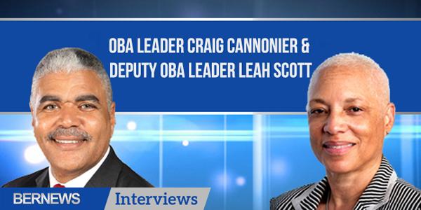 Bernews Interviews TC Craig Cannonier and  Leah Scott Bermuda Oct 10 2018
