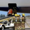 Fire & Rescue Meet Arriving Plane July 13 2011