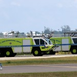 Fire & Rescue Meet Arriving Plane Bermuda July 13 2011 (5)