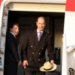 Royal Couple Arrive In Bermuda From UK  March 16 2011 (3)