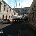 Boats in Dockyard Bermuda for Hurricane Leslie September 6 2012 (1)