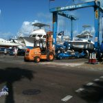 Boats in Dockyard Bermuda for Hurricane Leslie September 6 2012 (2)