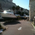 Boats in Dockyard Bermuda for Hurricane Leslie September 6 2012 (5)
