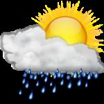 clouds sun rain day