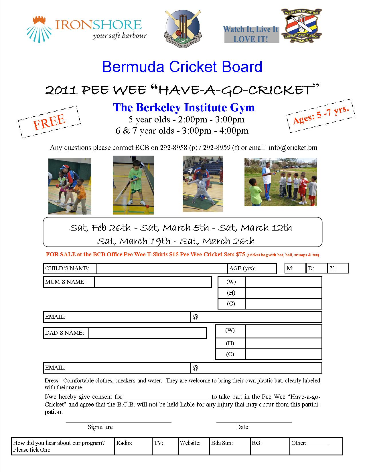 2011 Pee Wee Registration Form You know how they say Mothers have eyes on the ...