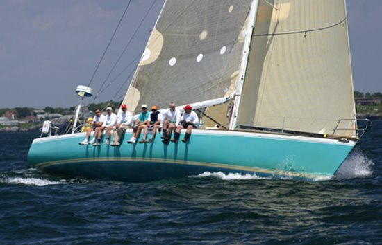 "Amongst the returning boats is ""Gold Digger"", Jim Bishop's J/44 [pictured] ..."