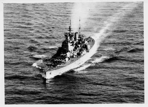 World War II British battleship HMS Duke of York